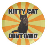 Kitty Cat Don't Care Party Plate