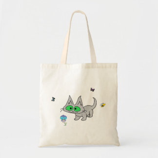 Kitty Cat Enjoying Nature Tote Bags