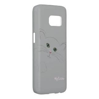 Kitty Cat Face Drawing Samsung Galaxy S7 Case