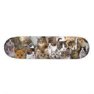 Kitty Cat Faces Pattern Skateboard
