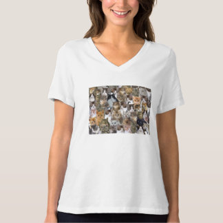 Kitty Cat Faces Pattern T-Shirt