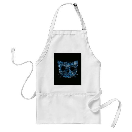 Kitty Cat Feline Furry Friend Typography Art Adult Apron