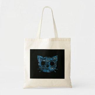 Kitty Cat Feline Furry Friend Typography Art Tote Bag