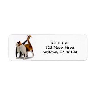 Kitty Cat Friends Customizable Label