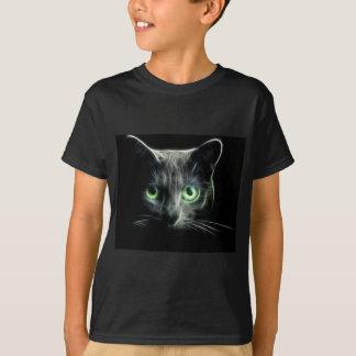 Kitty cat glowing green eyes T-Shirt