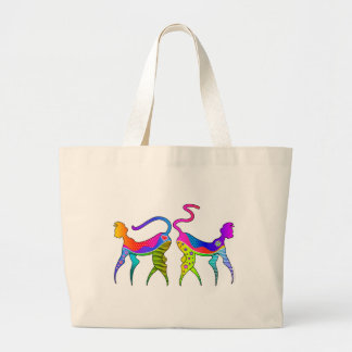 KITTY CAT GROCERY BAGS or TOTE BAGS