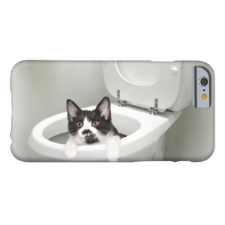 Kitty cat in toilet barely there iPhone 6 case