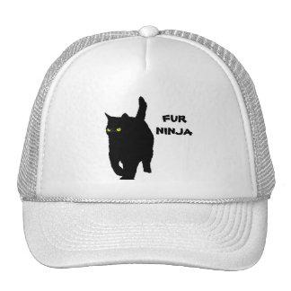 Kitty Cat is Fur Ninja (yellow eyes) Trucker Hat