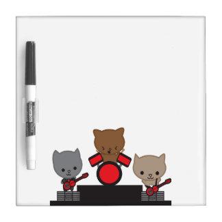 Kitty Cat Kawaii Band Dry-Erase Whiteboard