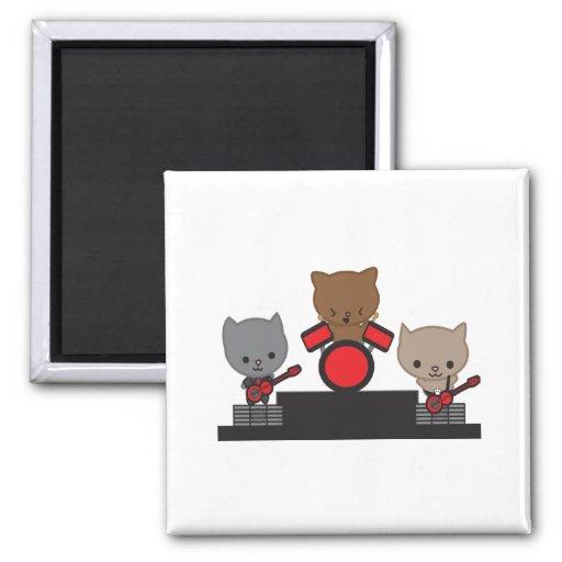 Kitty Cat Kawaii Band Magnet