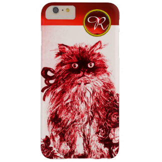 KITTY CAT- KITTEN WITH RED ROSES Gemstone Monogram Barely There iPhone 6 Plus Case