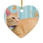Kitty Cat Love-Albert Ceramic Ornament