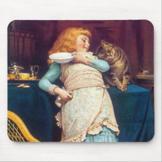 Kitty Cat Love - Vintage Art Mousepad