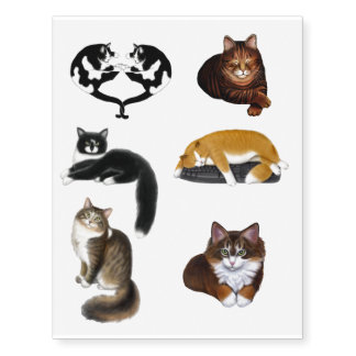 Kitty Cat Lovers Temporary Tattoos