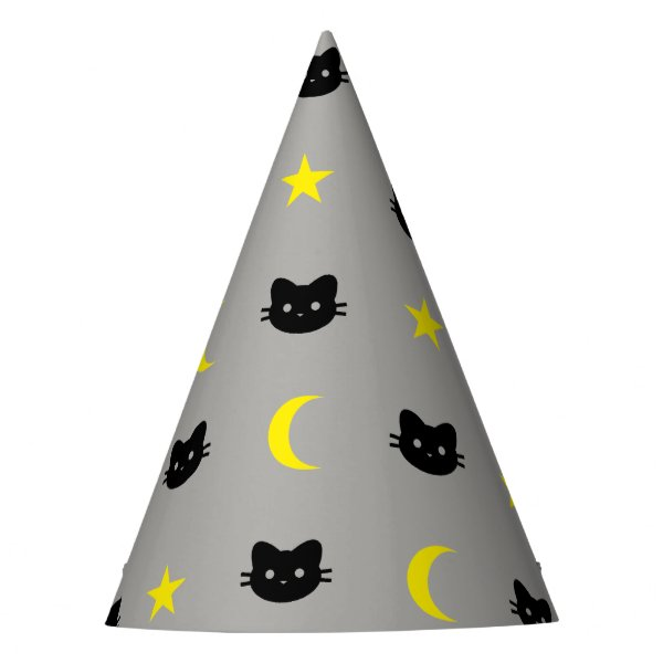 kitty Cat Moon And Stars Party Hat