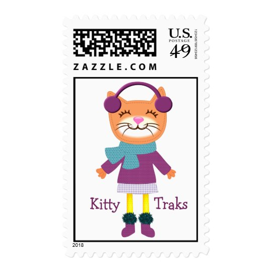 Kitty Cat Music Custom Postage Stamp