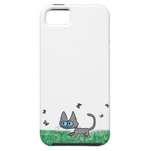 Kitty Cat Playing With Butterflies iPhone 5 Cover