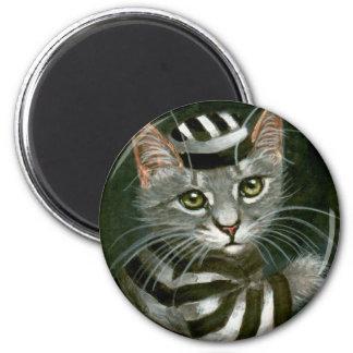 Kitty Cat Prisoner Halloween Magnet