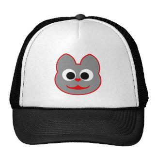 Kitty Cat Red - Gray Trucker Hat