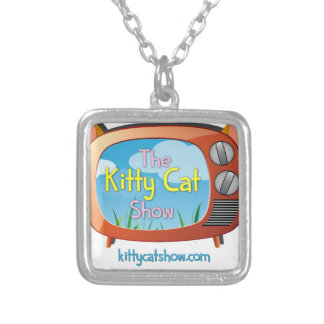 Kitty Cat Show Goodies for One and All! Square Pendant Necklace