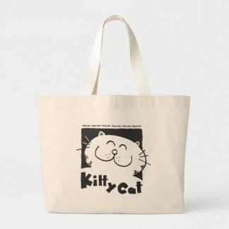 Kitty-Cat-smart-cat Large Tote Bag