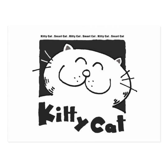 Kitty-Cat-smart-cat Postcard