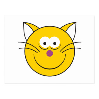 Kitty Cat Smiley Face Post Card