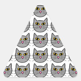 Kitty Cat Triangle Stickers