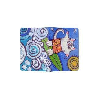 Kitty Cat surfer wave rider passport holder