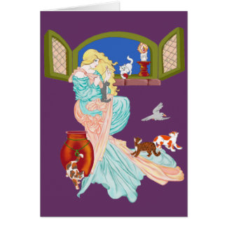 Kitty Cat Tales Missing You Greeting Card