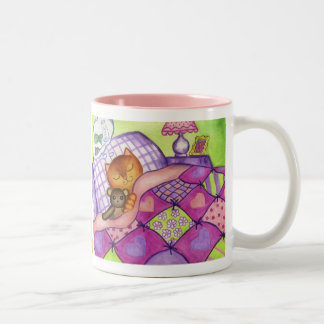 Kitty Cat Teddy Bear Quilt Mug