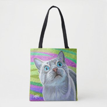 Beach Themed Kitty Cat Tote Bag
