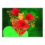 """Kitty Cat Valentine 5"""" X 7"""" Invitation Card"""