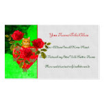 Kitty Cat Valentine Business Card Templates