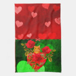 Kitty Cat Valentine Kitchen Towels