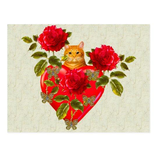 Kitty Cat Valentine Postcard