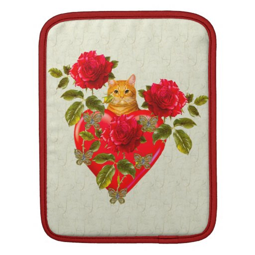 Kitty Cat Valentine Sleeves For iPads