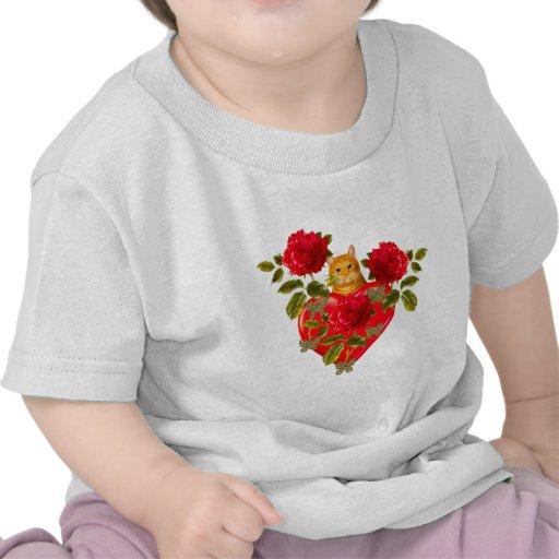 Kitty Cat Valentine Tee Shirts