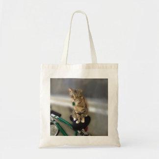 Kitty Cat Wants to Go Biking Tote Bag