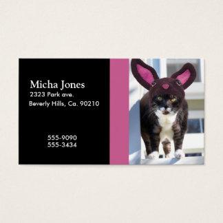 Kitty Cat Wearing Bunny Ears Business Card