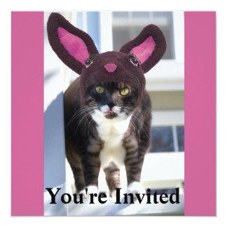 Kitty Cat Wearing Bunny Ears Card