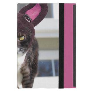 Kitty Cat Wearing Bunny Ears Case For iPad Mini