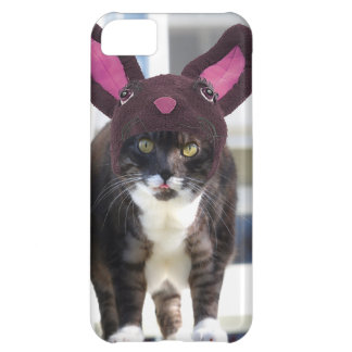 Kitty Cat Wearing Bunny Ears Case For iPhone 5C