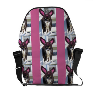 Kitty Cat Wearing Bunny Ears Courier Bag