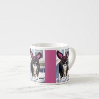 Kitty Cat Wearing Bunny Ears Espresso Cup
