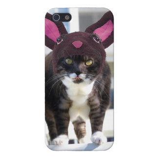 Kitty Cat Wearing Bunny Ears iPhone SE/5/5s Cover