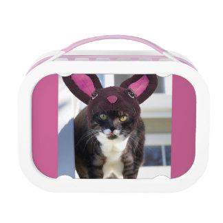 Kitty Cat Wearing Bunny Ears Lunch Box