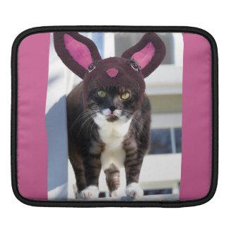 Kitty Cat Wearing Bunny Ears Sleeve For iPads