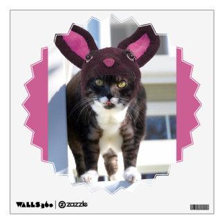 Kitty Cat Wearing Bunny Ears Wall Sticker