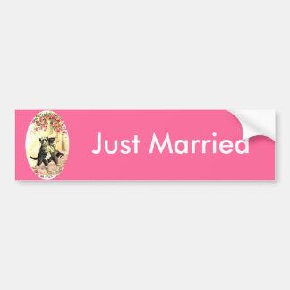 Kitty Cat Wedding Bumper Sticker